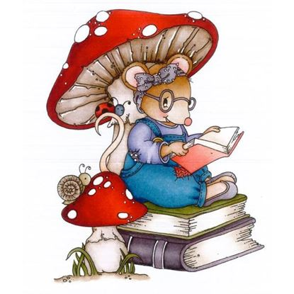 Daisy Mae Stamp - Milly the Book Worm