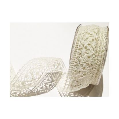 35mm Crochet Cotton Lace - Ivory