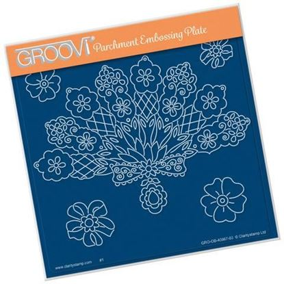 Maria Maidments Floral Fan Groovi A5 Square