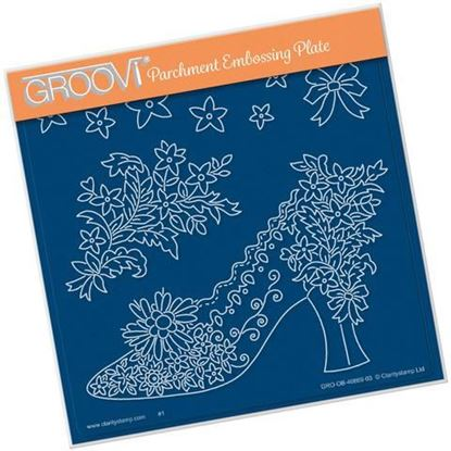 Maria Maidments Floral Shoe Groovi A5 Square