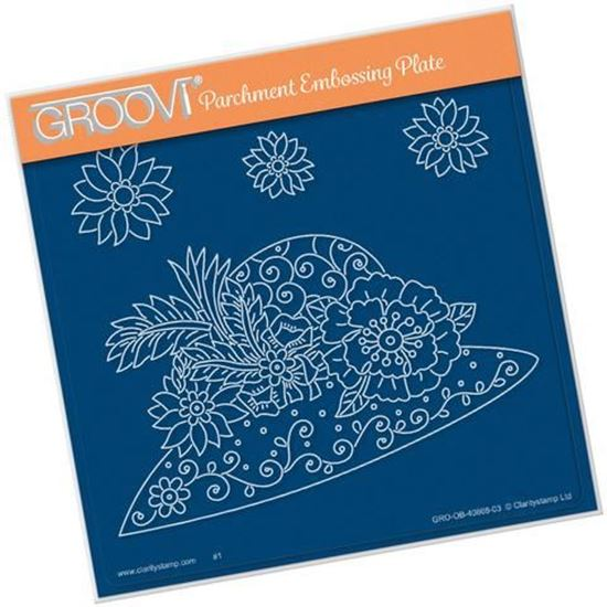 Maria Maidments Floral Hat Groovi A5 Square