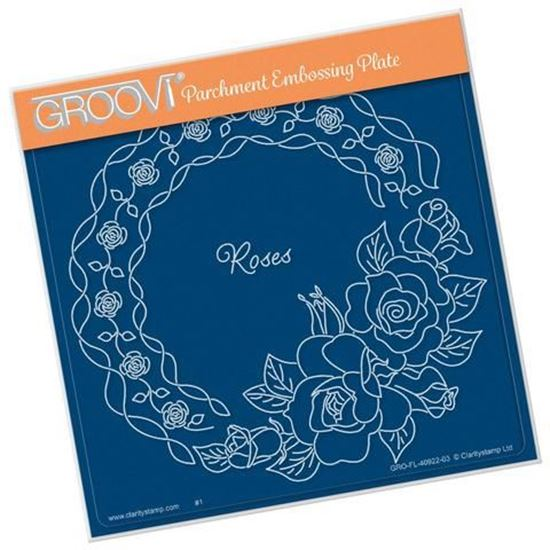 Linda's Roses & Lace Groovi Plate A5 Square