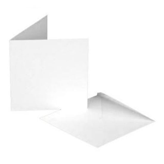 "7"" x 7"" Cards & Envelopes - Smooth White"