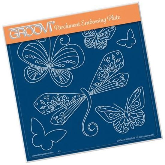 Tina's Dragonfly Fun Groovi A5 Square