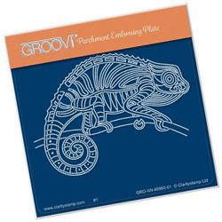 Striped Chameleon Groovi Baby Plate A6