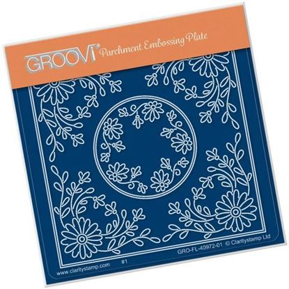 Tina's Daisy Flower Parchlet A6 Square Groovi Plate