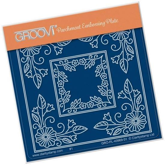 Tina's Morning Glory Flower Parchlet A6 Square Groovi Plate