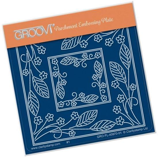 Tina's Forget Me Not Flower Parchlet A6 Square Groovi Plate
