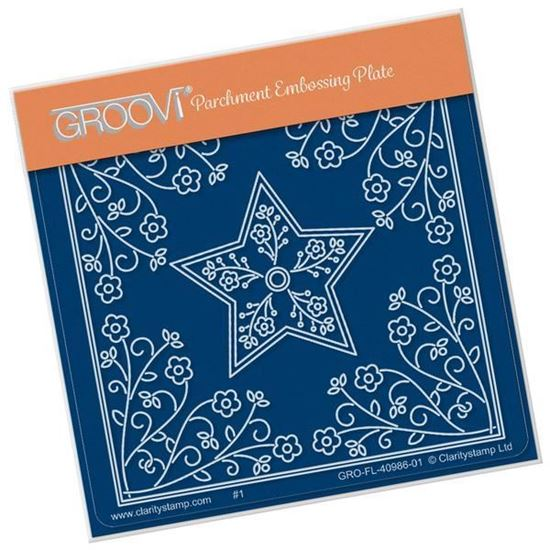 Tina's Star Flower Parchlet A6 Square Groovi Plate