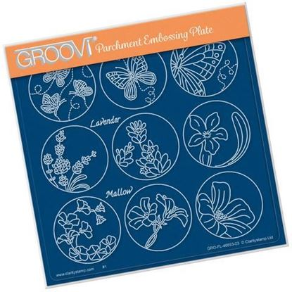 123 Flower Sampler Butterfly Groovi A5 Sq Plate