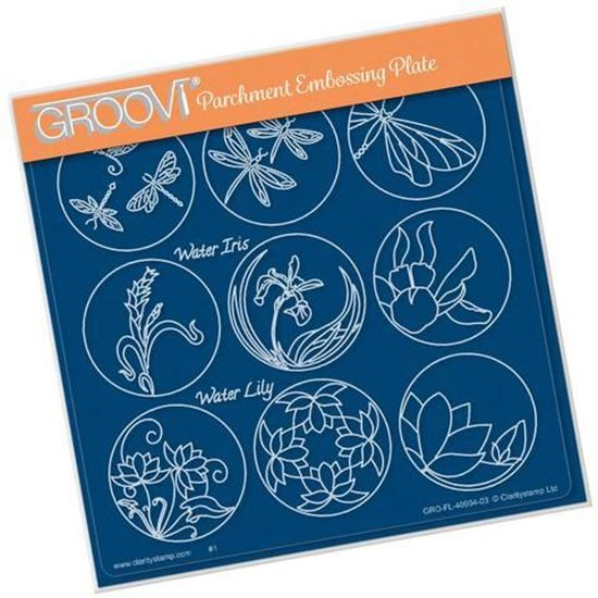 123 Flower Sampler Dragonfly Groovi A5 Sq Plate