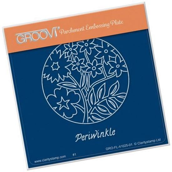 Periwinkle Round Groovi A6 Square Plate