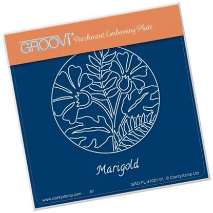 Marigold Round  Groovi A6 Square Plate