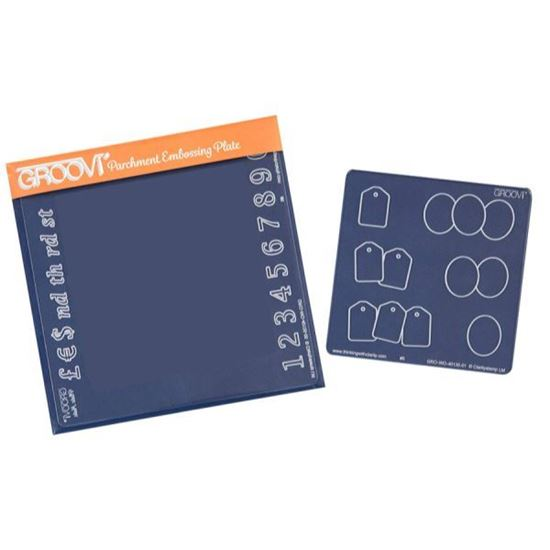 Numbers Inset & Ovals & Tags Groovi Baby Plate