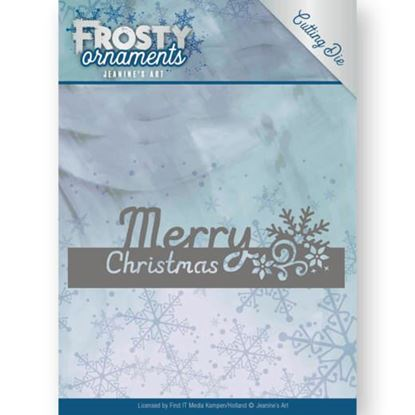 Frosty Ornament Dies - Merry Christmas Text