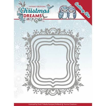 Christmas Dream Dies - Snowflake Rectangle Frame