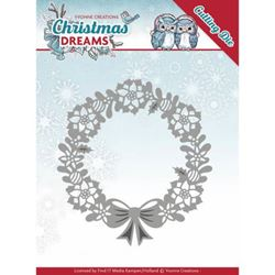Christmas Dream Dies - Poinsettia Wreath