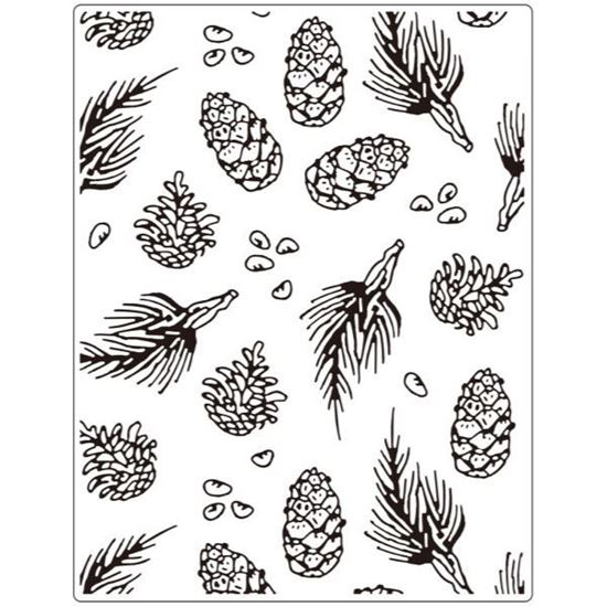 "Crafts Too Embossing Folder - Pine  5.75 ""x 7.5"""