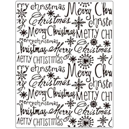 "Crafts Too Embossing Folder - Merry Christmas 5.75 ""x 7.5"""