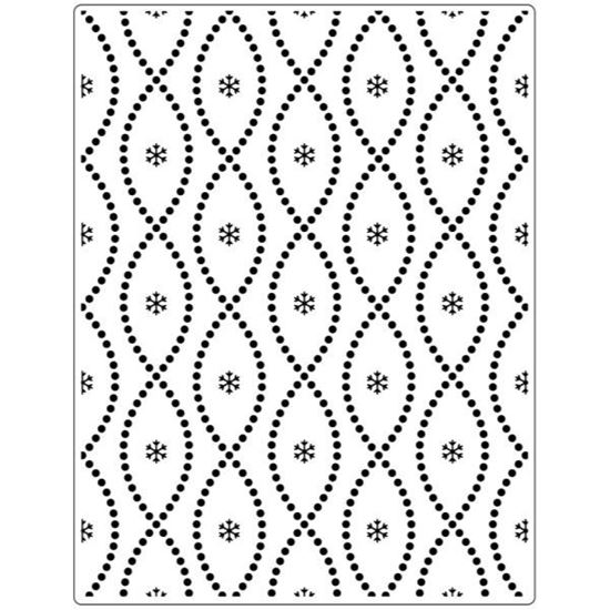 "Crafts Too Embossing Folder - Seamless Circle 5.75 ""x 7.5"""