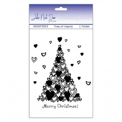 "John Next Door Embossing Folder - Tree of Hearts 5"" x 7"""