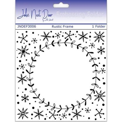 "John Next Door Embossing Folder - Rustic Frame 6"" x 6"""