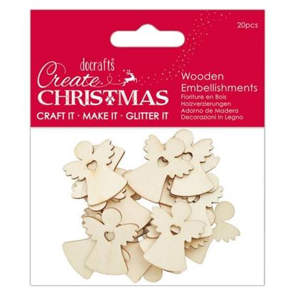 Wooden Embellishments - Angels