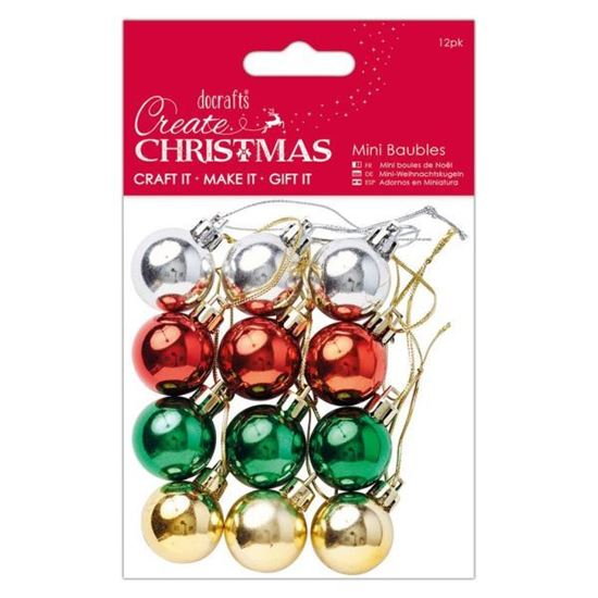 Mini Baubles with string Cord