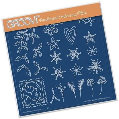 Mistletoe & Wreath Accessory Groovi A5 Square Plate