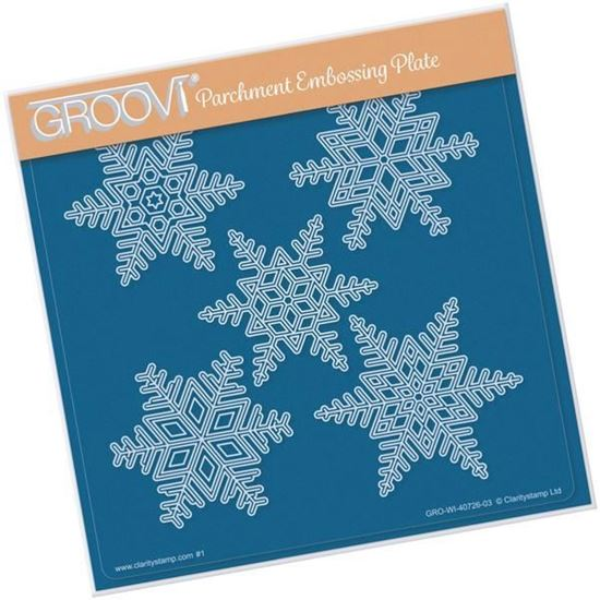 Large Snowflakes - Groovi A5 Square Plate