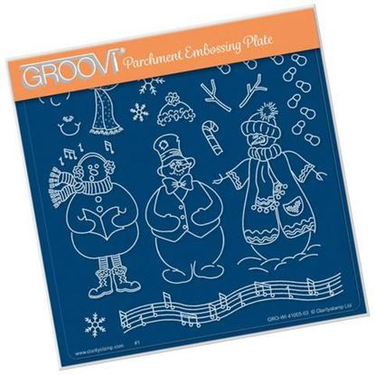 Linda Williams Snowman Groovi Plate A5 Square