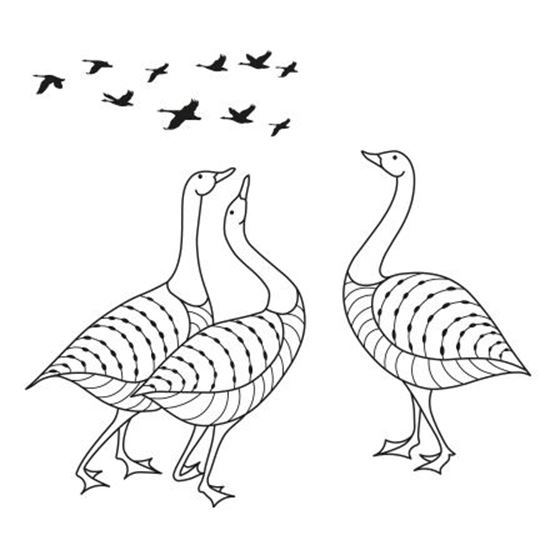 Clarity Clear Stamp & Mask Set - Geese