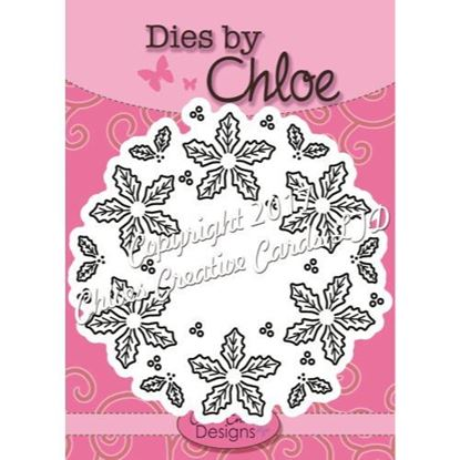 Dies By Chloe - Holly Flower Wreath