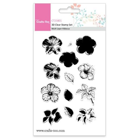 Crafts Too 3D Stamps Multi Layer Hibiscus