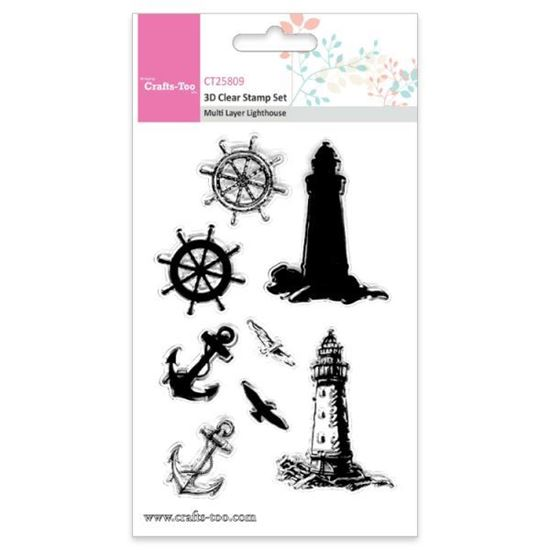 Crafts Too 3D Stamps Multi Layer Lighthouse