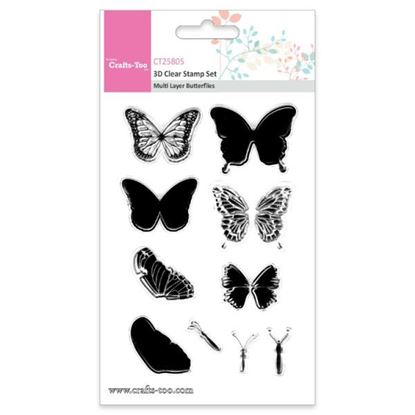 Crafts Too 3D Stamps Multi Layer Butterflies