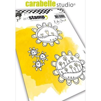 Carabelle Art Cling Stamps A6 - Sunflower Doodles