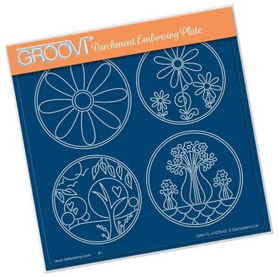 Summer Layering Circles A5 Square Groovi Plate