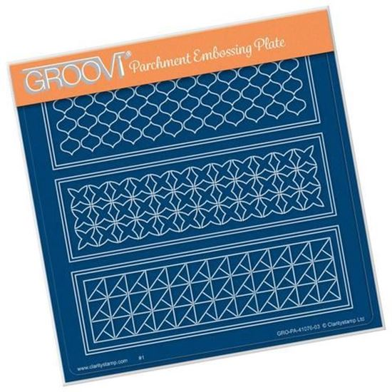Geo Layering Panel A5 Square Groovi Plate