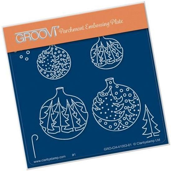 Christmas Tree Bauble A6 Square Groovi Plate