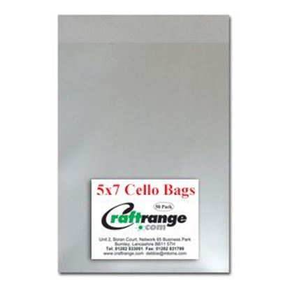 "Cello Bags 5"" x 7"" Pack 50"