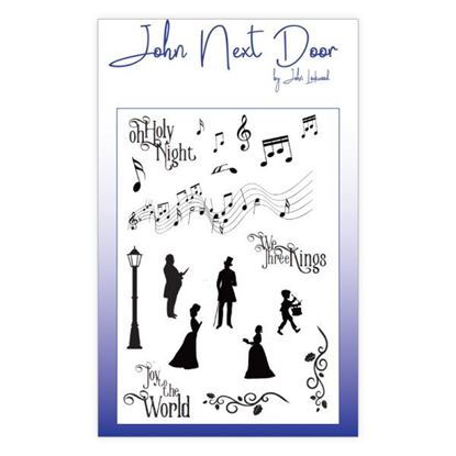John Next Door Clear Stamp - Christmas Music