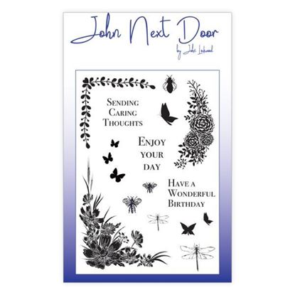 ohn Next Door Clear Stamp - Butterfly Corners