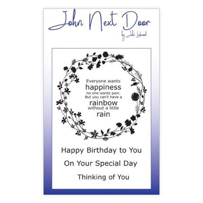 John Next Door Clear Stamp - Flower Circle