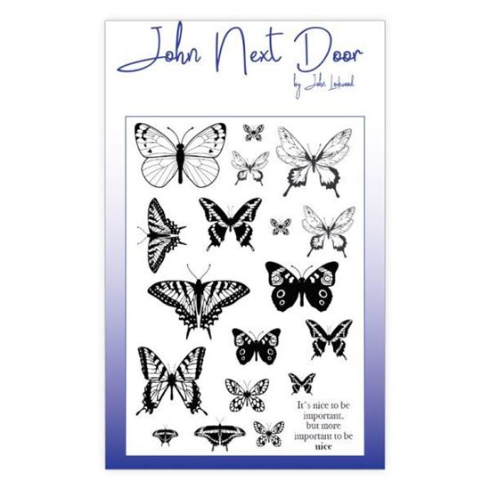 John Next Door Clear Stamp - Butterflies