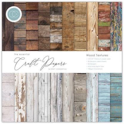 "Craft Consortium Essential Craft Paper 12"" x 12"" - Wood Textures"