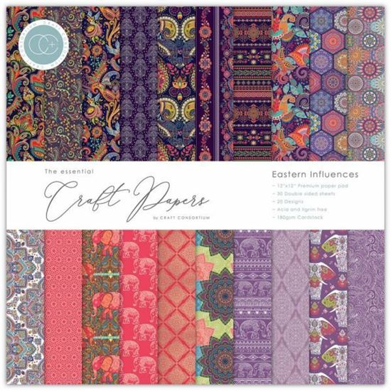 "Craft Consortium Essential Craft Paper 12"" x 12"" - Eastern Influences"
