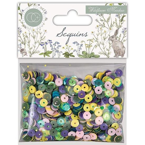 Craft Consortium Wildflower Meadows - Sequins Assorted Colours