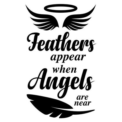 Feathers Appear when Angels are Near N02 Decal