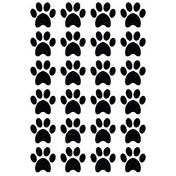 S/A Paws 3cm Decal